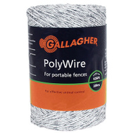 Gallagher G62004 1/16x656 Wht Polywire