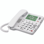 AT&T CL4940 Large Display Corded Phone With Answering System White