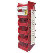 Quantum Storage RQUS210RD Bin Storage With Two Rails Red 6 Pack