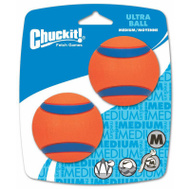 Petmate 17001 Chuckit Medium Ultra Ball Fetch Toy Pack Of 2