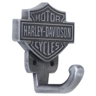 Ace HDL-10100 Harley Davidson Roadhouse Collection Bar And Shield Design Hook Antique Pewter