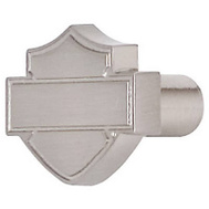 Ace HDL-10113 Harley Davidson Roadhouse Collection Bar And Shield Silhouette Design Cabinet Knob Brushed Nickel