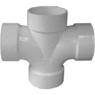 Ipex Canplas 192188 2 By 2 By 1-1/2 Hub Dwv Red Double Sanitary T