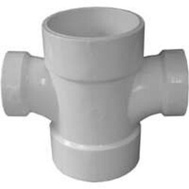 Ipex Canplas 192181 3 By 3 By 2 By 2 Inch Double Sanitary Tee
