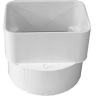 Ipex Canplas 414434BC Duraspout 3 By 4 Inch Downspout Adapter To 4 Inch Sewer Pipe White