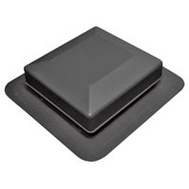 Canplas 6050BL Duraflo Square Top Roof Vent Black