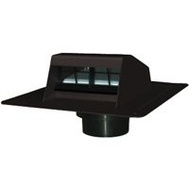 Canplas 6013BL Duraflo Roof Dryer Exhaust Vent Black