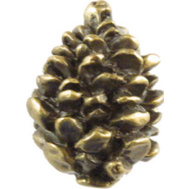 Sierra Lifestyles SL-681326 Rustic Lodge Collection Pinecone Cabinet Knob Antique Brass