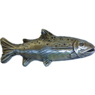 Sierra Lifestyles SL-681402 Rustic Lodge Collection Trout Cabinet Pull Pewter