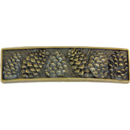 Sierra Lifestyles SL-681486 Rustic Lodge Collection Pinecone Cabinet Pull Antique Brass