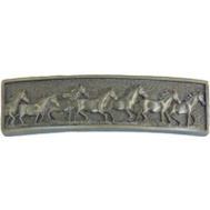 Sierra Lifestyles SL-681489 Western Design Running Horses Cabinet Pull Pewter