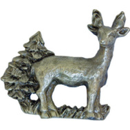 Sierra Lifestyles SL-681499 Rustic Lodge Collection Standing Deer Cabinet Pull Pewter