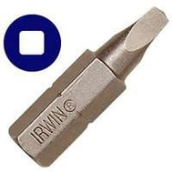 Irwin IWAF21SQ12 Square Recess Bit 1 By 1/4 Inch