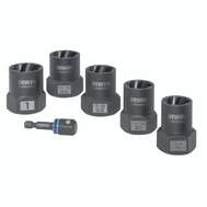 Irwin 1859146 Bolt Grip Impact Deep Well Bolt Extractor With 1/2 Inch Square Drive 6 Piece Set