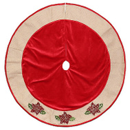 Dyno Seasonal 2486113-2 48 Inch RED Poin Tree Skirt