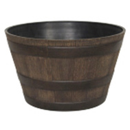 True Temper HDR-005063 Southern Patio 15-1/2 Inch Whiskey Barrel Planter