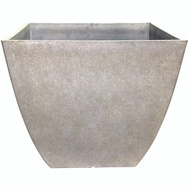 True Temper HDR-012184 Southern Patio Planter Square Bone 16in