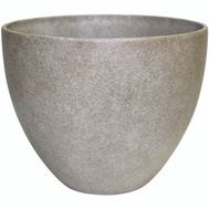 True Temper HDR-012313 Southern Patio Planter Egg Bone Wash 9in