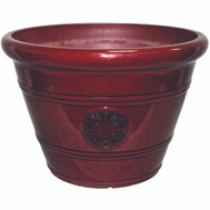 True Temper HDP-019299 Southern Patio Planter Pot 12 In Oxblood