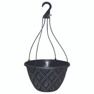 True Temper CF-029823 Southern Patio Basket Hanging 12In Silvr Brsh