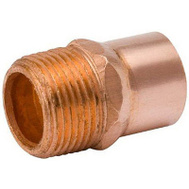 B&K Mueller W 61132 1/2 By 3/8 Copper Mpt Adapter