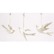 Gerson 2354570 Flying Bird Hanging Ornament 3Pc 5.9In