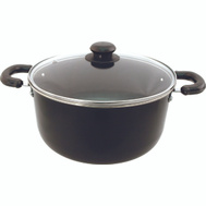 Dura Kleen 406 Eurohome Dutch Oven 5 Quart With Glass Lid Black