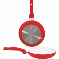 Dura Kleen 8120-RD Fry Pan 8In Ceramic Coated Red