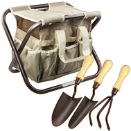 Shanghai Worth T090056 Green Thumb Garden Seat, Tool & Tool Bag Set