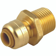 Cash Acme U110LFA Sharkbite Push Fit Adapter 1/4Sbx 1/2Mpt