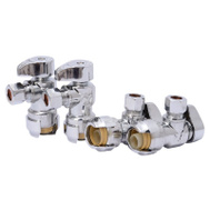 Cash Acme 23036LFA4 Sharkbite Valve Ang Stop 1/2X3/8In Comp 4 Pack