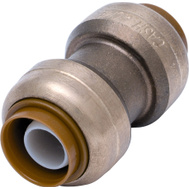 Cash Acme U020LFA Sharkbite Coupling Psh Fit Dzr Brs 1X1in