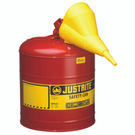 Justrite 7150110 5 Gauge Red Type 1 Safety Can With F