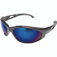 Edge Wolf Peak SW118 Safety Glasses Black With Blue Mirror Lens