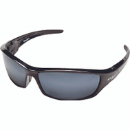 Edge Wolf Peak SR117 Recluse Series Safety & Sport Glasses Black With Silver Mirrored Lenses