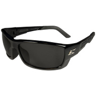 Edge Wolf Peak PM116 Safety Glasses Black Frame Smoke Lens