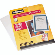 Centurion 52005 Fellowes Clear Laminating Pouches 8-1/2 By 11 Inch 25 Pack
