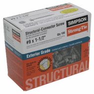 Simpson Strong Tie SD9112R100 #9X 1.5 Inch Connector Screw