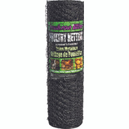 Jackson Wire 12012329 24 Inch By 50 Foot 1 Inch Poultry Netting Black Vinyl Coated