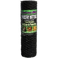 Jackson Wire 12012529 36 Inch By 50 Foot 1 Inch Poultry Netting Black Vinyl Coated