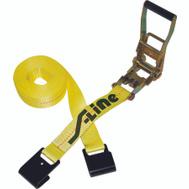 Ancra S-Line 557 27 Foot By 2 Inch Heavy Duty Ratchet Strap With Wide Handle And Flat Hooks