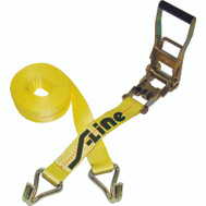 Ancra S-Line 557-WHK 27 Foot By 2 Inch Heavy Duty Ratchet Strap With Wide Handle And Wire J Hook