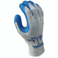 Showa 300L-09.RT Gloves Gray With Blue Coating Large