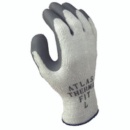 Showa 451S-07.RT Gloves Work Gray With Gray Dip Small