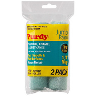Purdy 140624040 Parrot Jumbo Mini 4-1/2 Inch 1/4 Inch Nap 3/4 Inch Core Mohair Roller Cover 2 Pack