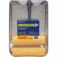 Purdy 140810200 Contractor 1st 9 Inch Roller And Metal Tray Kit 4 Piece