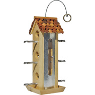 Woodstream 50171 Perky Pet 2 Pound Wood Tin Jay Bird Feeder