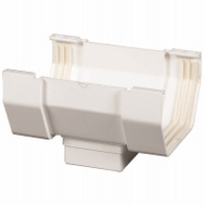 Amerimax T0506 Center Drop Outlet Contemporary 5 Inch White