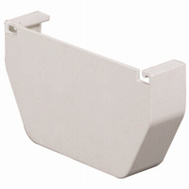Amerimax T0511 End Cap Contemporary Vinyl 5 Inch White