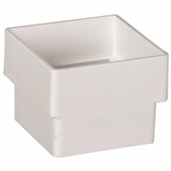 Amerimax T0523 Downspout Connector Square 2 Inch White